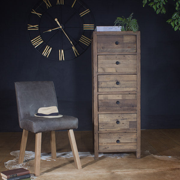 Standford Reclaimed Wood Tall Chest of Drawers