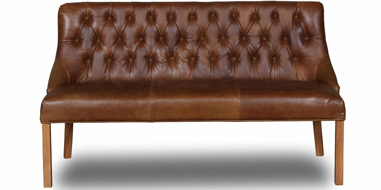 Stanton Cerato Leather Dining Bench