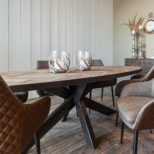 Sussex Industrial Oval Dining Table