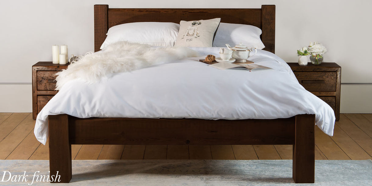 Sweet Dreams Beam Reclaimed Wood Bed Dark
