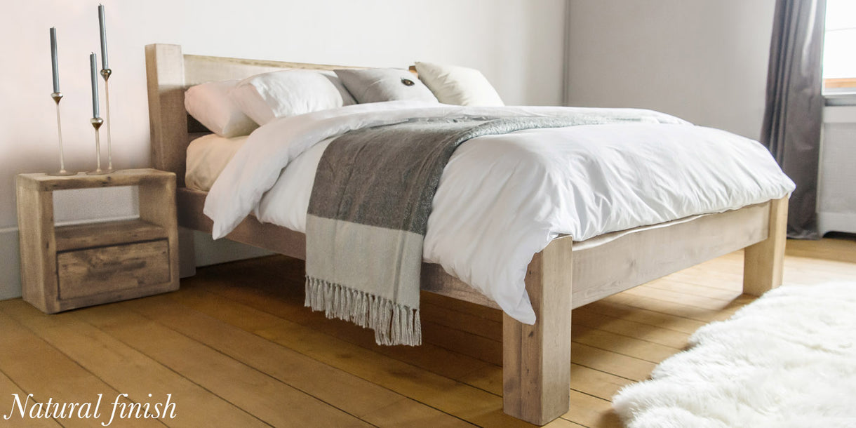 Sweet Dreams Beam Reclaimed Wood Bed Natural