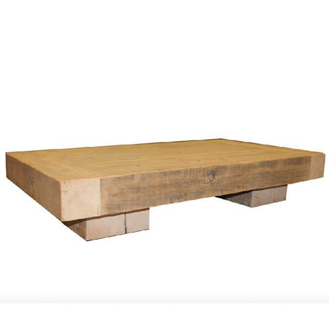 Thick Beam Reclaimed Wood Coffee Table