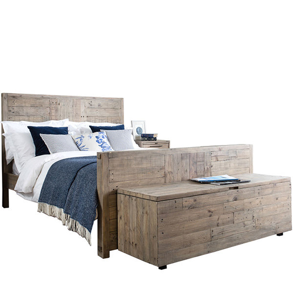 Thornton Reclaimed Wood in Bed and Blanket Box