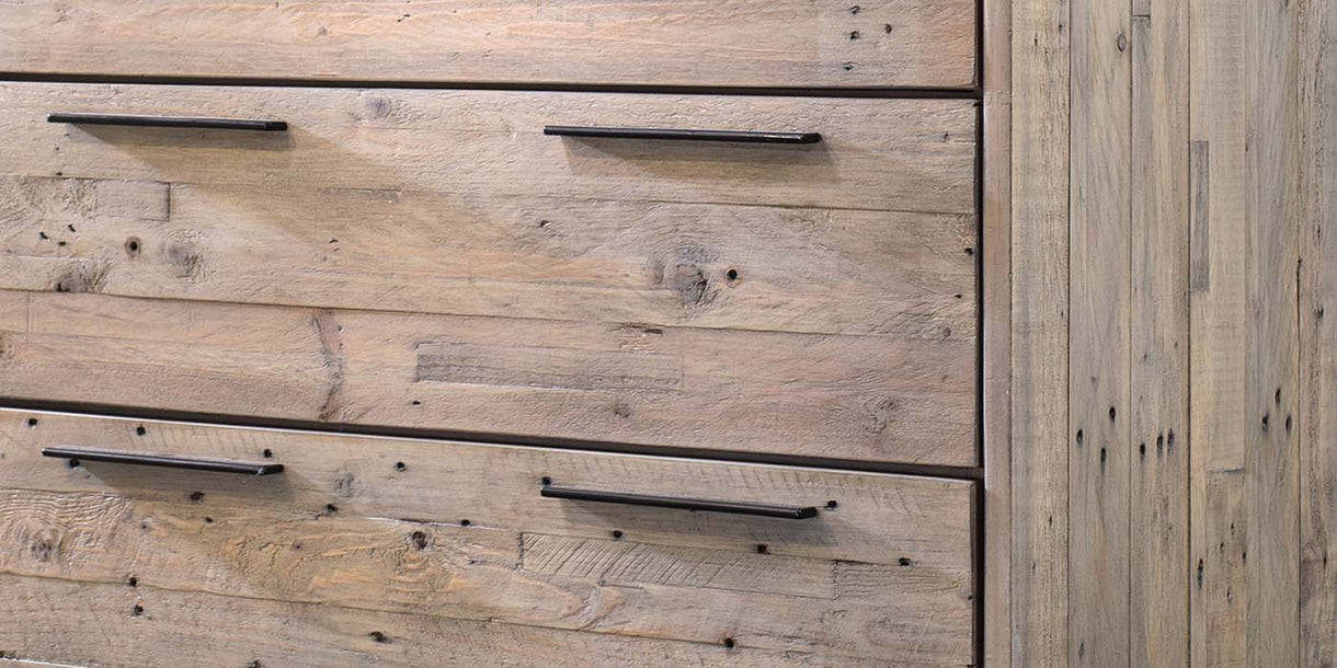 Thornton Reclaimed Wood Large Chest of Drawers Closeup