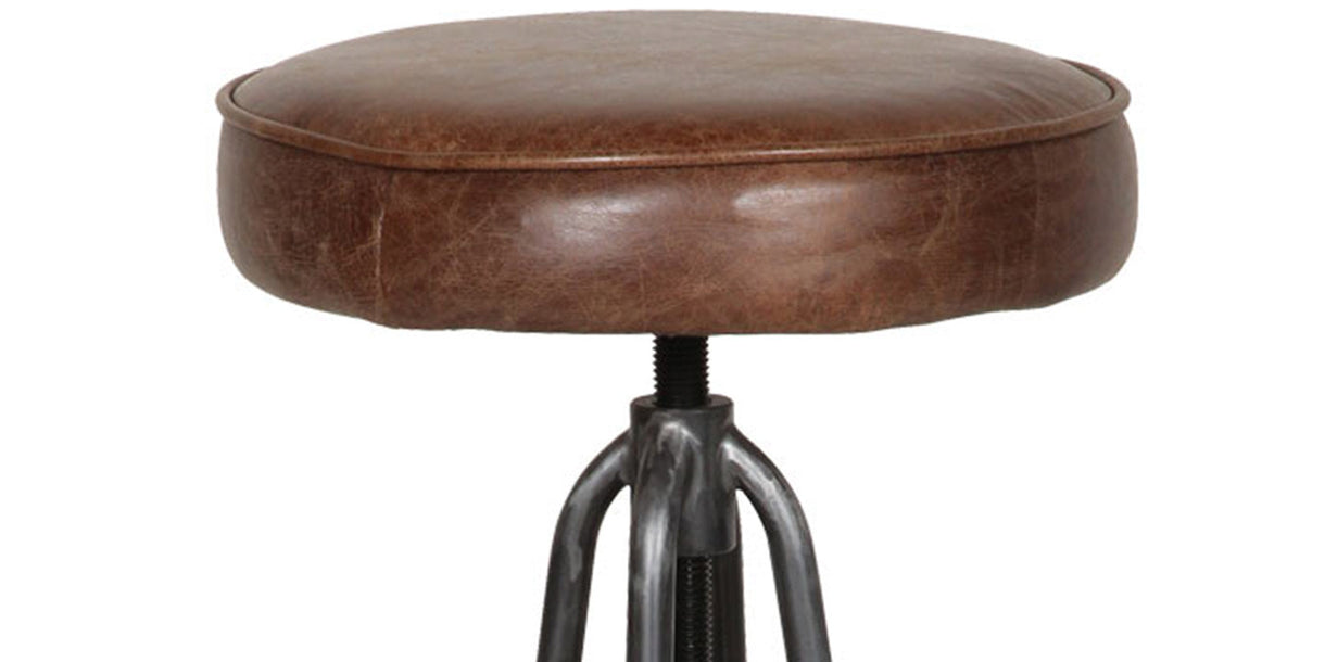 Thurlow Leather Bar Stool Close Up