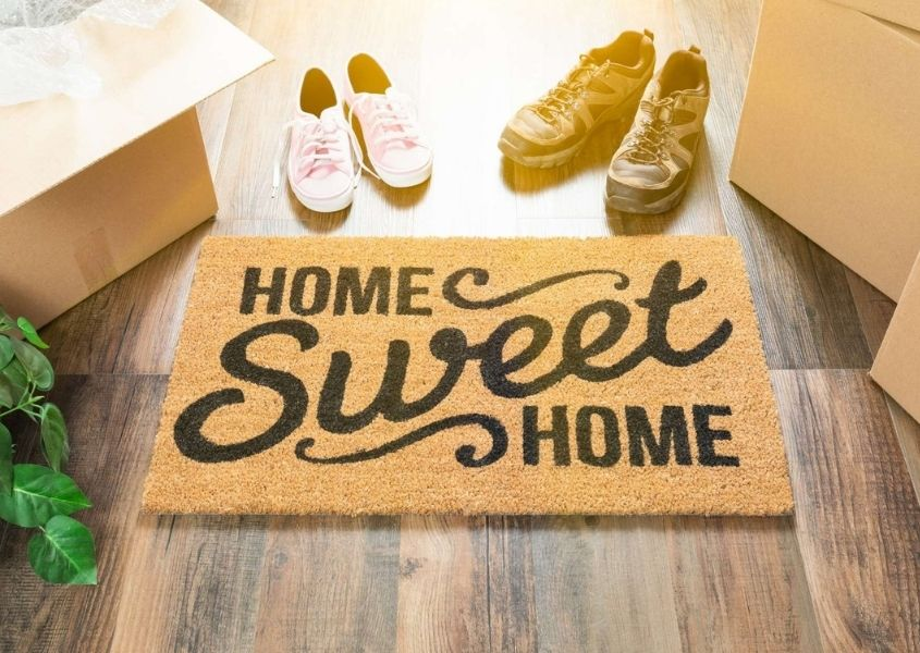 Home sweet home door mat for tips to plan out the kitchen diner in your new home blog