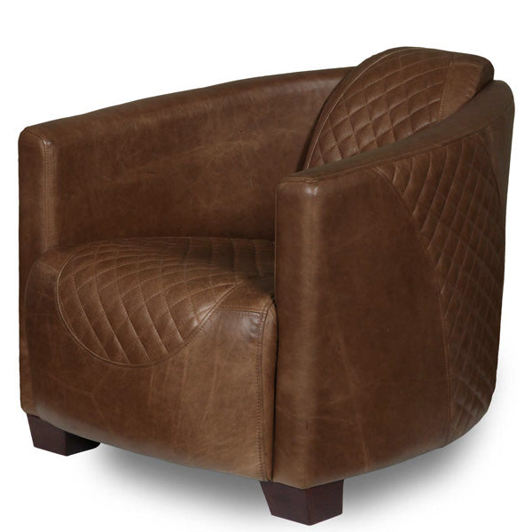 Triumph Cerato Brown Leather Armchair