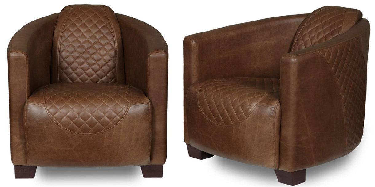 Triumph Cerato Brown Leather Armchairs