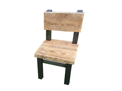Vardo Reclaimed wood and steel chair