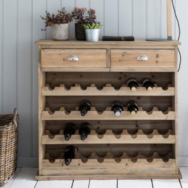 Chedworth Natural Wooden Wine Rack