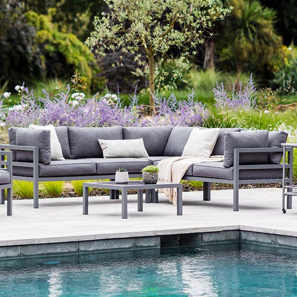 West Strand Grey Corner Sofa Set