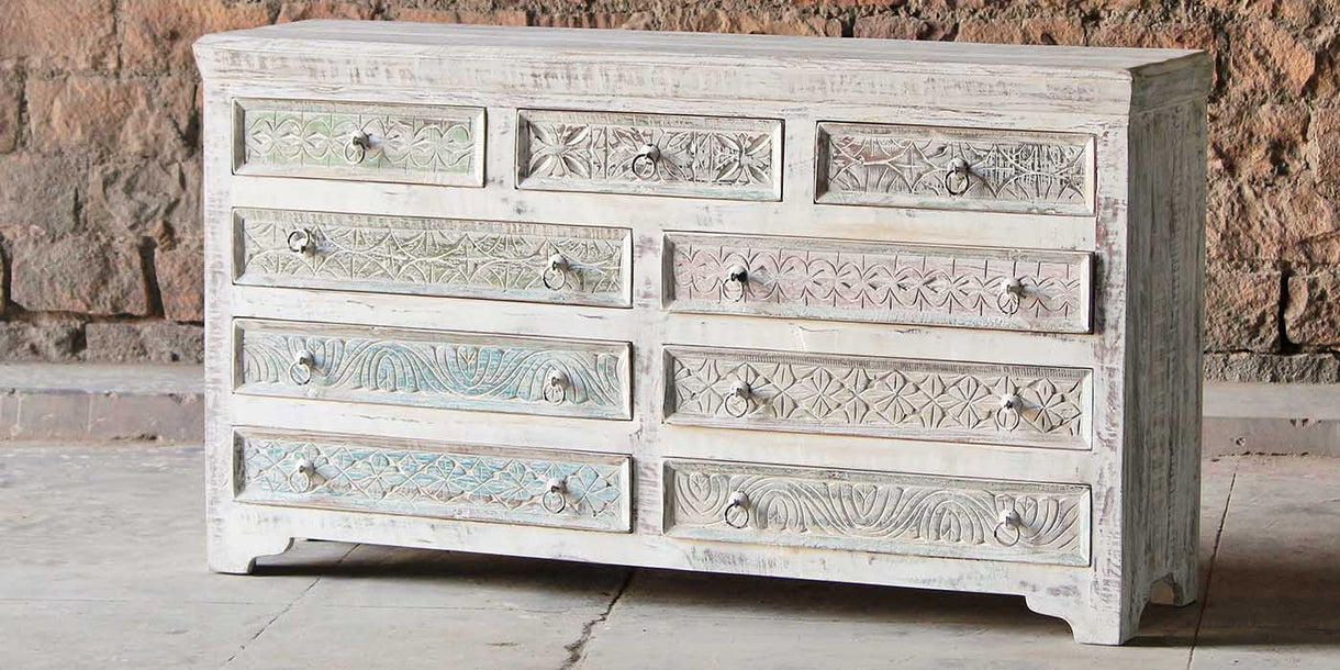 Whiteleaf Reclaimed Wood Large Chest of Drawers