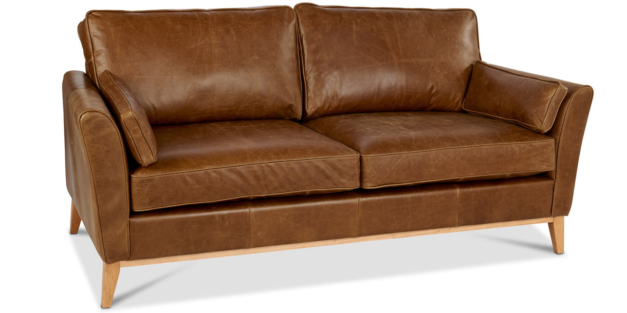 Wilbury Brown Leather Sofa