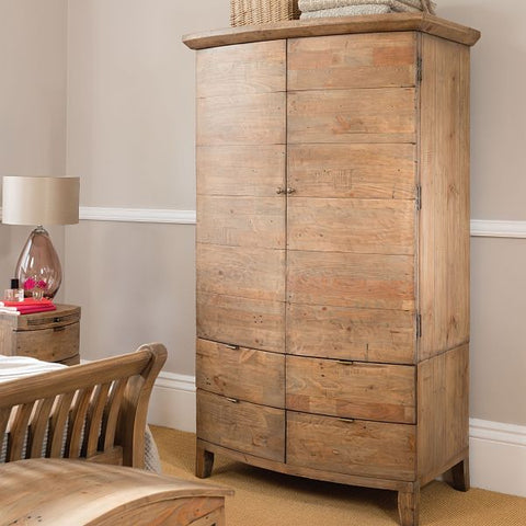 Winchester Rustic Reclaimed Wooden Wardrobe