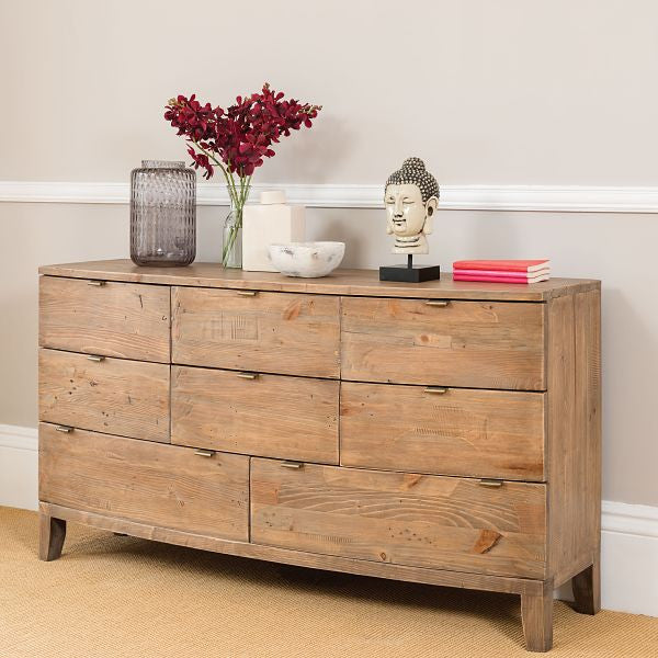 Winchester Rustic Wooden Large Chest of Drawers