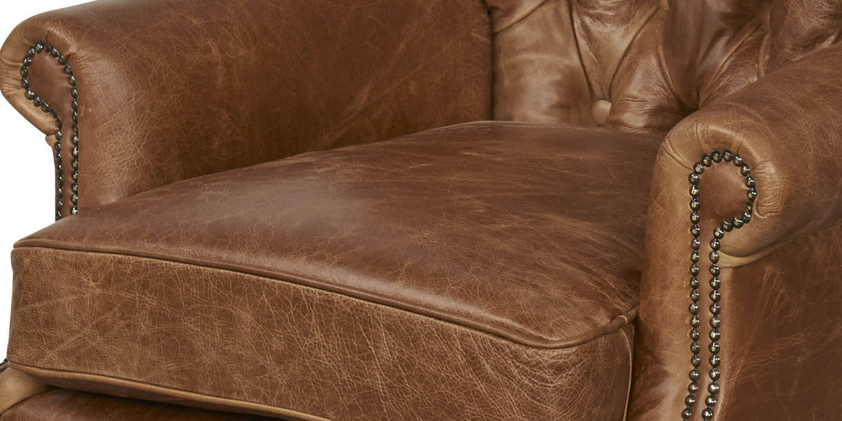 Wing Wrap Leather Armchair