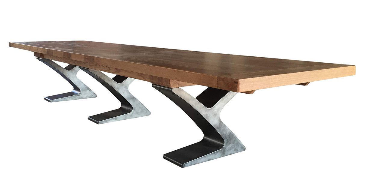 Winston Industrial Oak Boardroom Extended Table