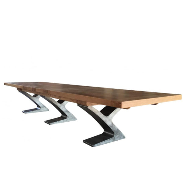 Boardroom Extendable Table with Metal Legs