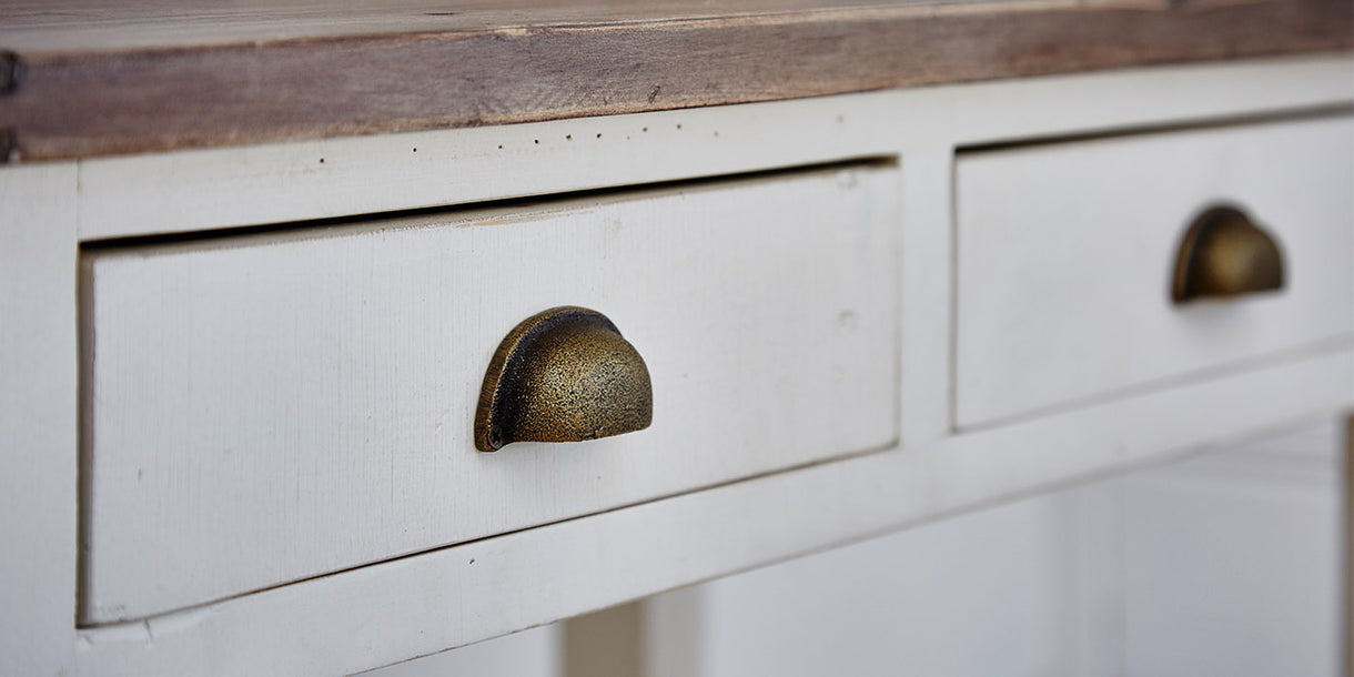 Drawers of Worcester Reclaimed Wood Console Table