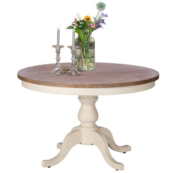 Worcester Reclaimed Wood Round Dining Table