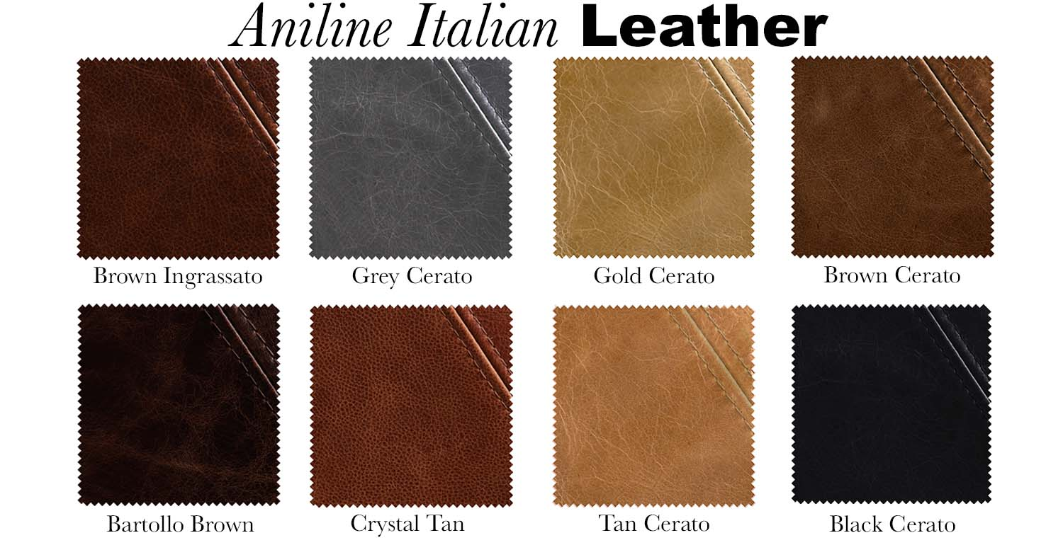 Aniline Leather Swatches - Modish Living
