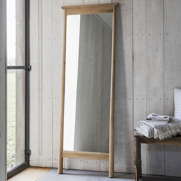 Hudson living wycombe oak mirror