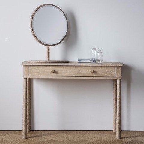 Hudson Living Wycombe Oak Dressing Table or Console for bedroom