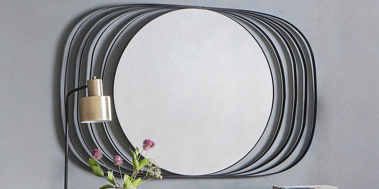 Xena Wall Mirror with black frame