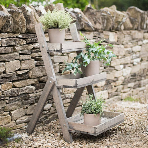 Small Wooden Aldsworth Pot Ladder for plants