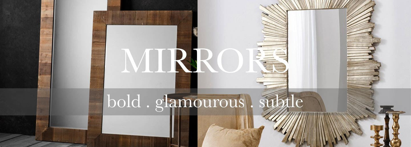 large and small wall and floor mirrors for the home