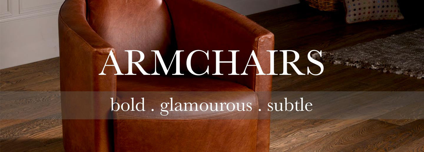 Leather armchairs and tube chairs for living room