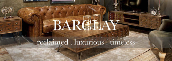 Barclay reclaimed wood collection of living room furniture