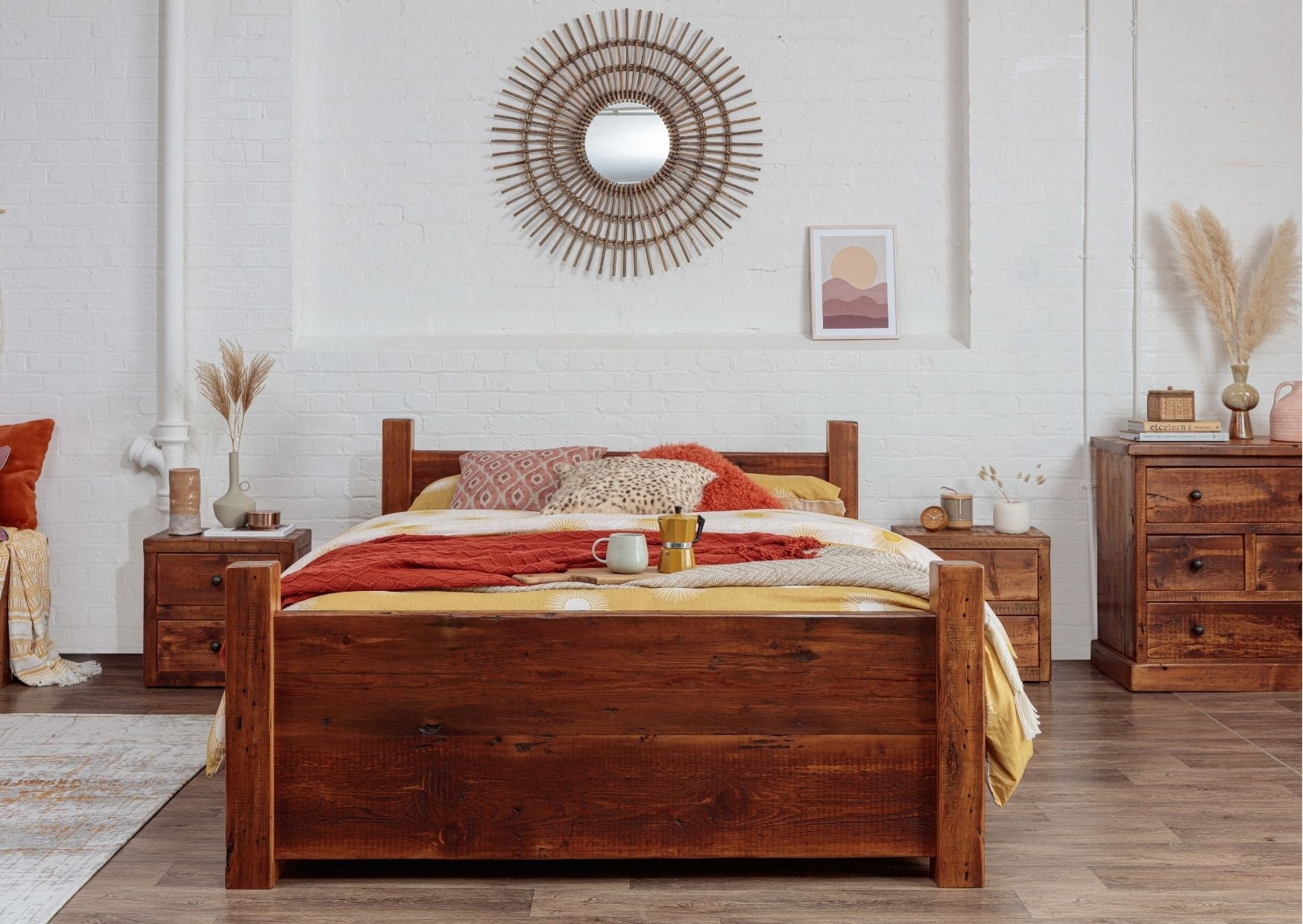 king size solid wooden bed frame