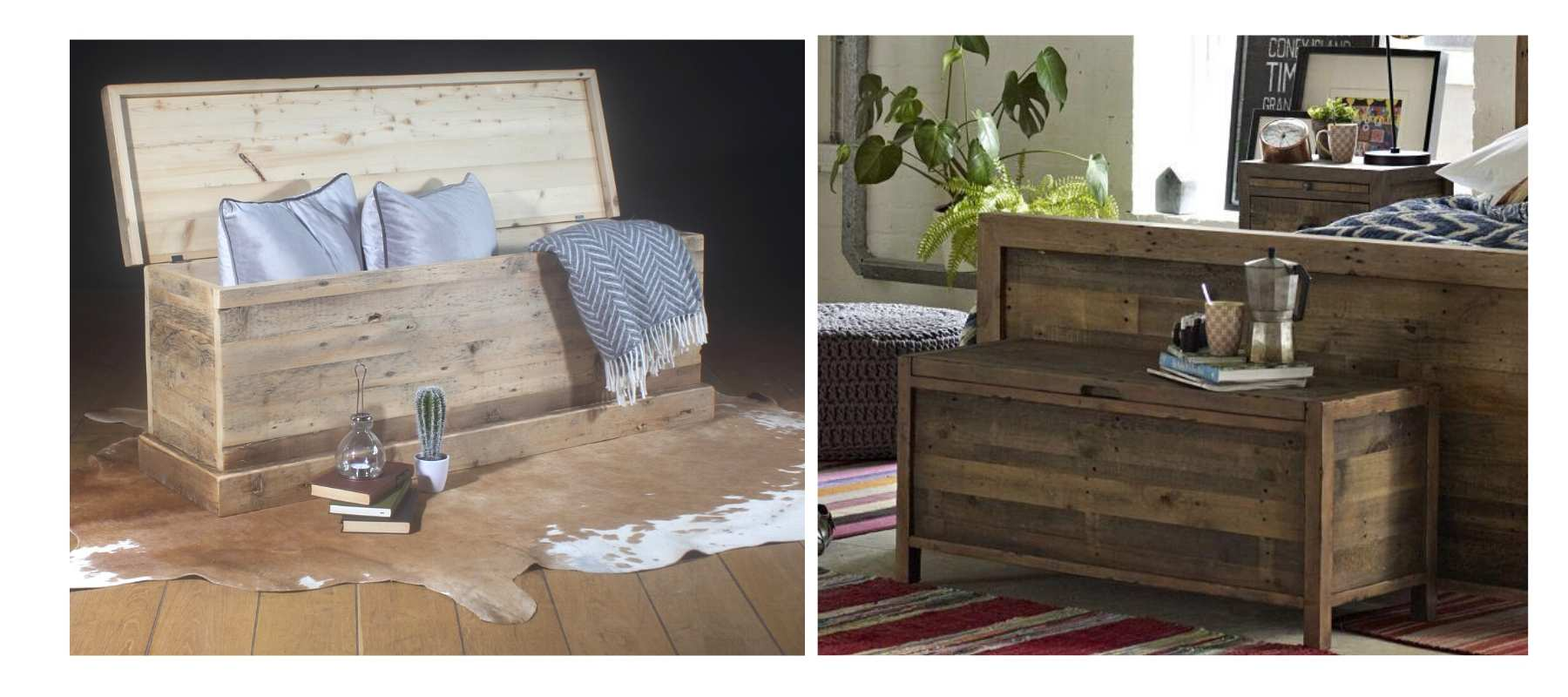 Beam Blanket Box and Standford Reclaimed Blanket box