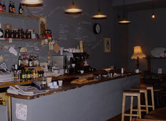 Cafe in hove using vintage and reclaimed wood materials