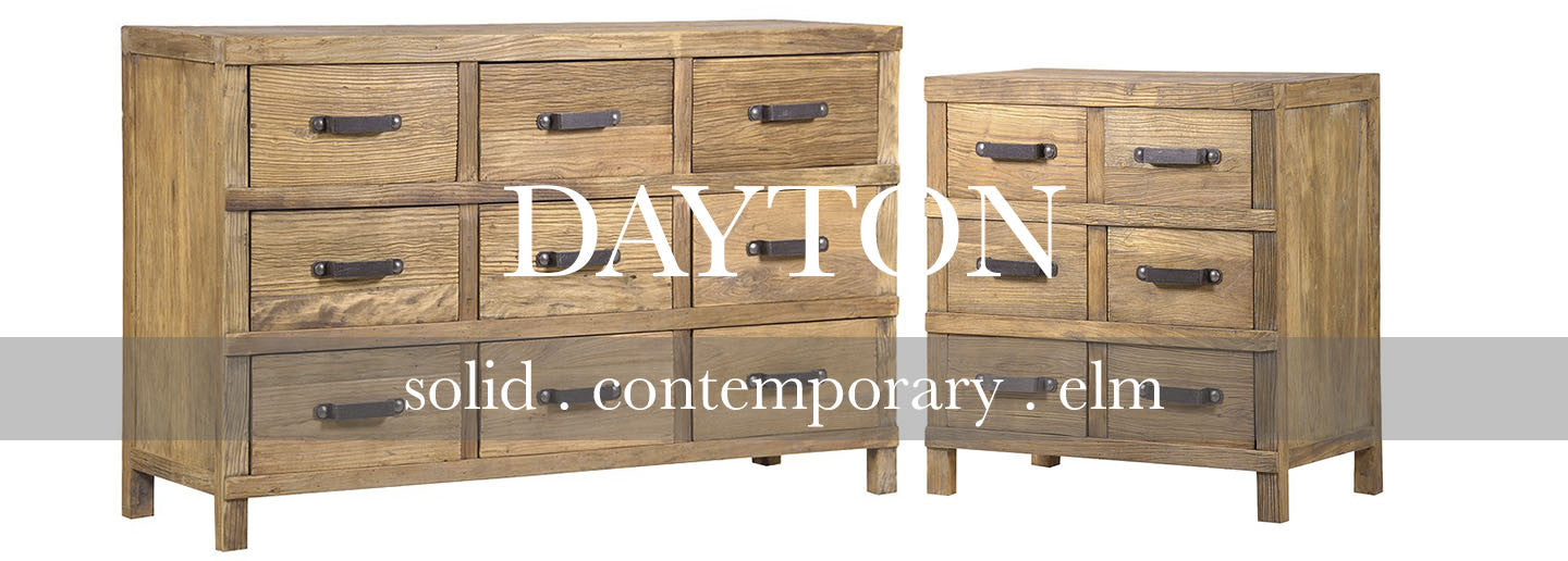 dayton solid elm chest of drawers