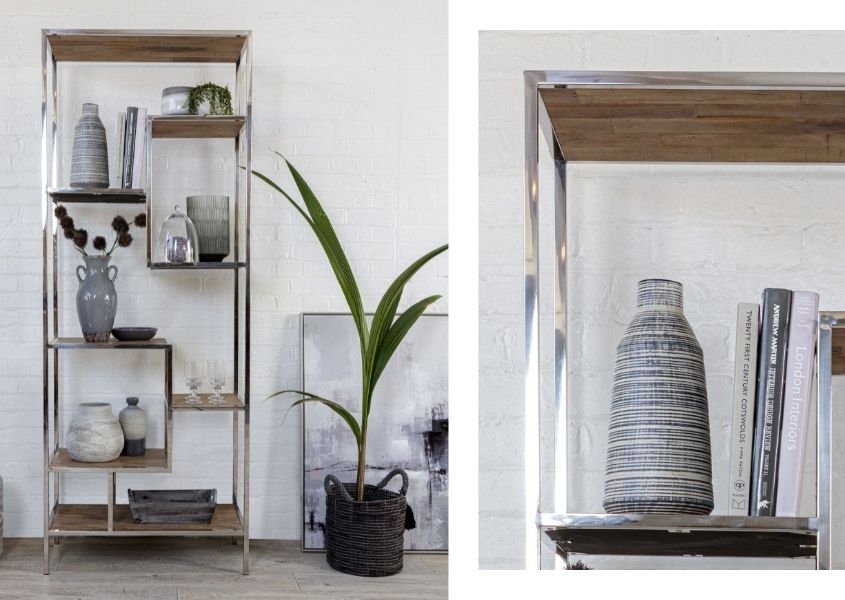 industrial reclaimed wood bookcase