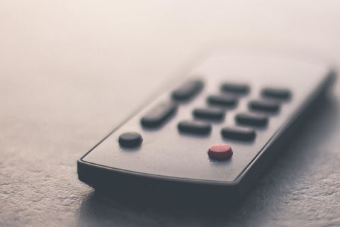 Close up of a remote control