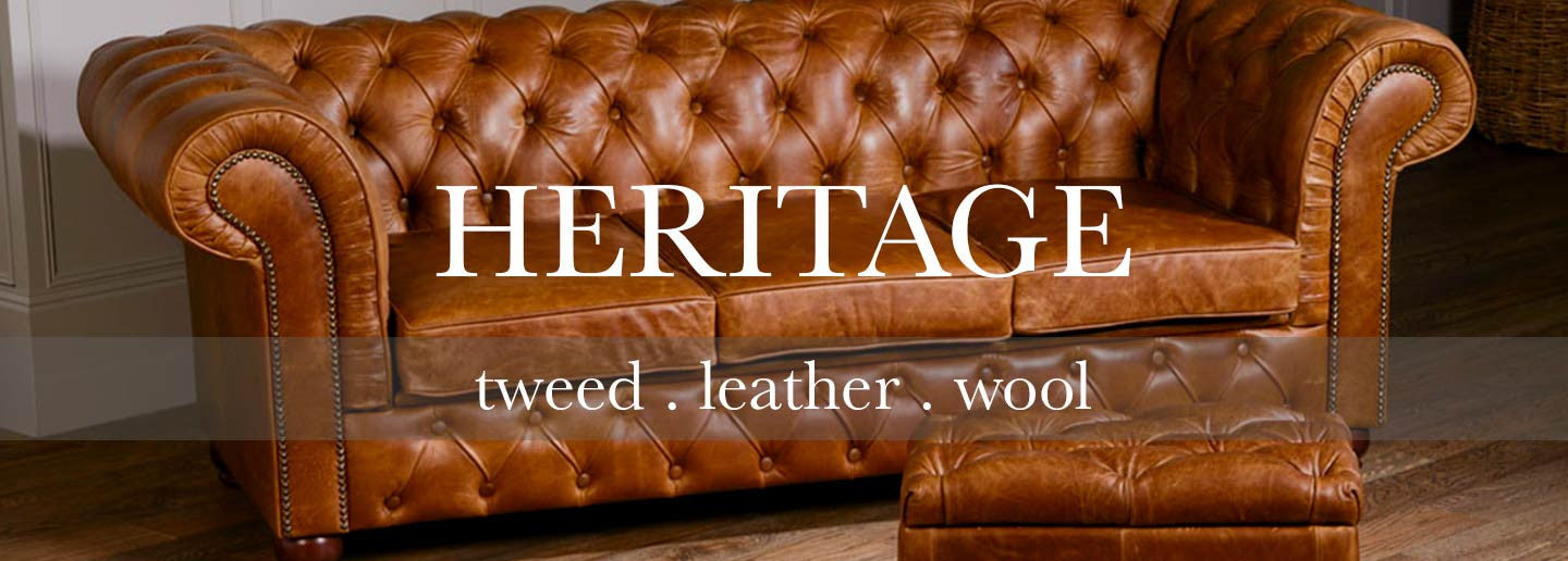 heritage collection of leather sofas and chairs for living room