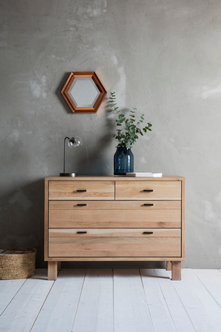 Hudson Living Kielder Oak Chest of Drawers
