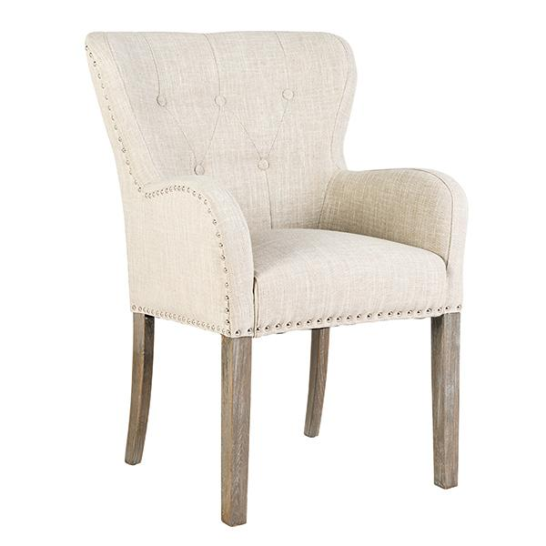 Luxe Ivy Cream Upholstered Dining Chair