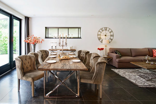 Luxe Kensington Reclaimed Wood Dining Table