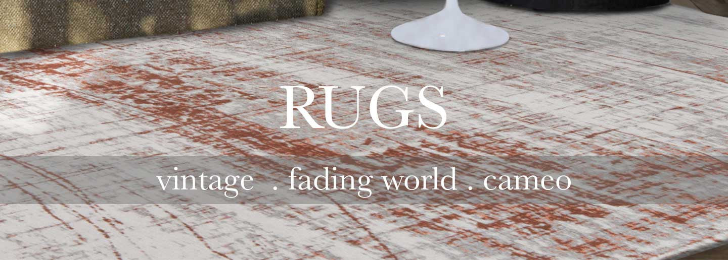 Louis de Poortere Rugs in vintage, fading world, and cameo prints