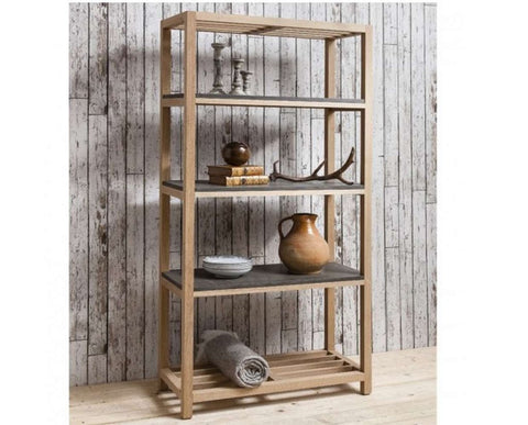 Hudson Living room brooklyn bookcase open shelving cabinet display