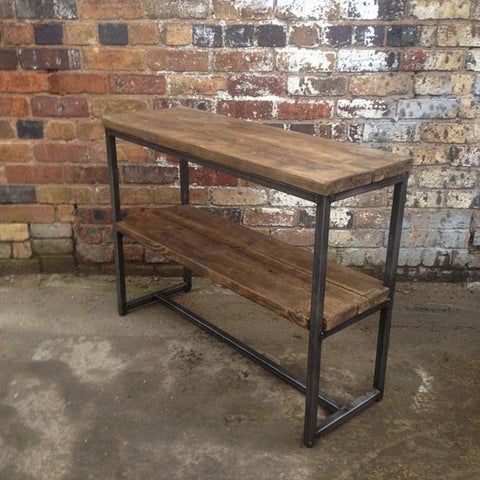 Oldman Industrial Reclaimed Wood Console Table
