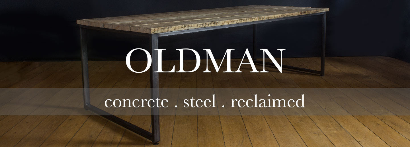 oldman collection of reclaimed wood dining tables and office furniture