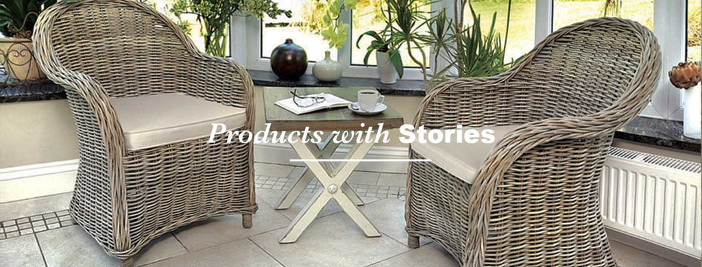 rattan chairs with small table