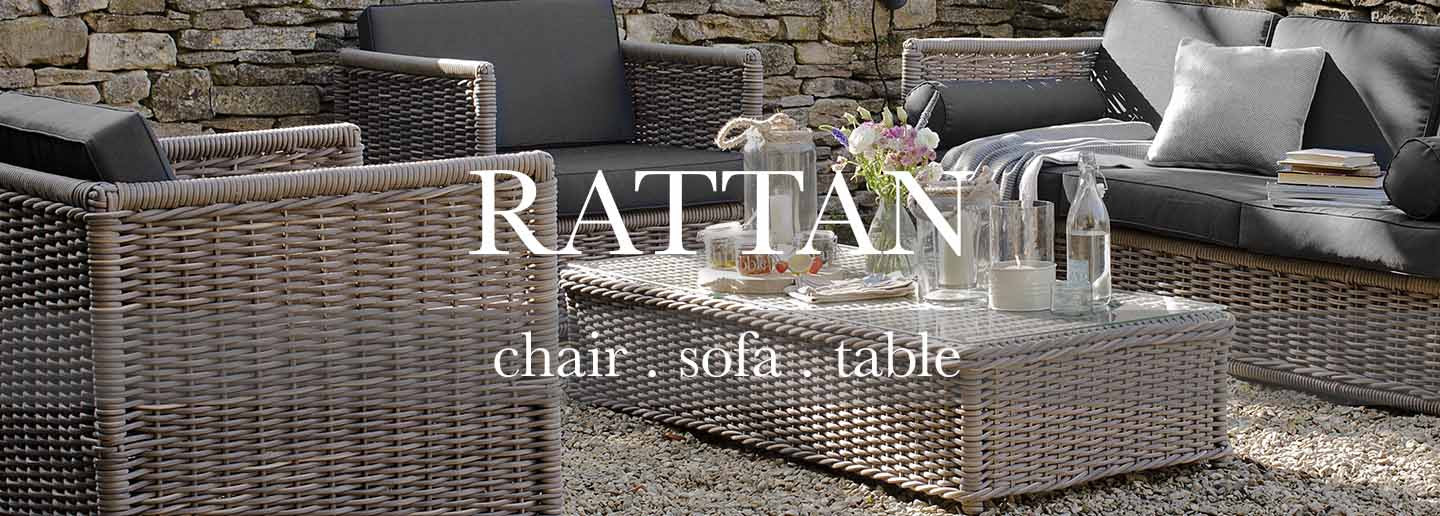 Rattan garden furniture collection of rattan coffee table and rattan sofa