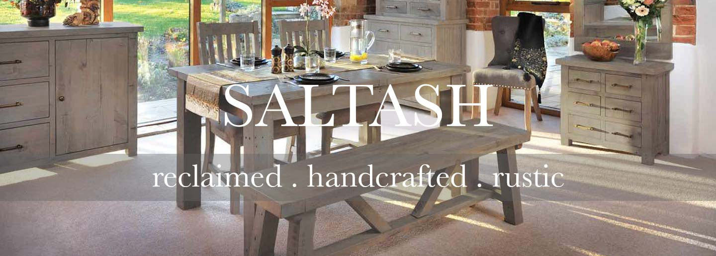 Saltash Reclaimed wood furniture collection in the dining room