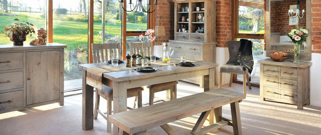 Saltash reclaimed wood dining range